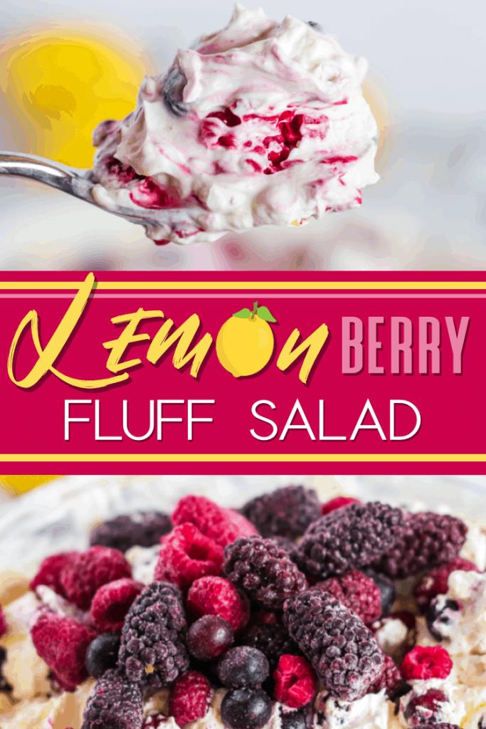 Lemon berry fluff salad lifeshouldcostless.com