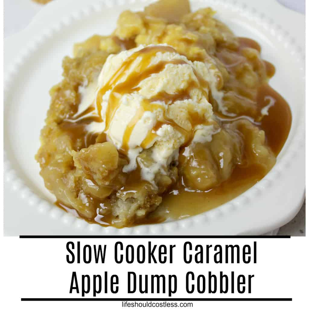 Slow Cooker Caramel Apple Dump Cobbler