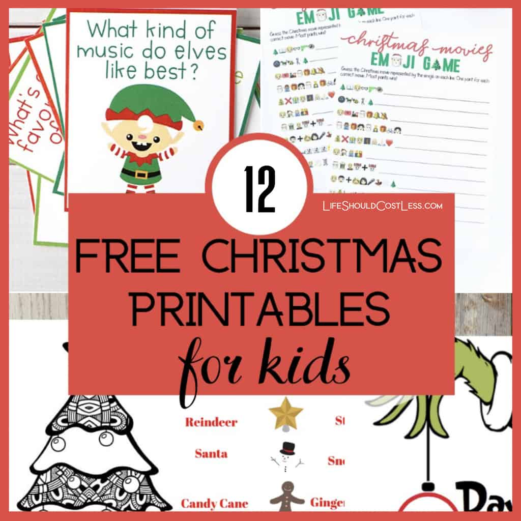 12 Free Christmas Printable Activities For Kids