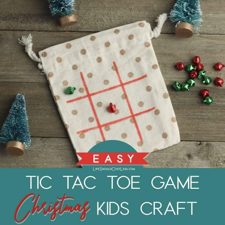 How To Make Easy Tic Tac Toe Game Christmas Kids Craft