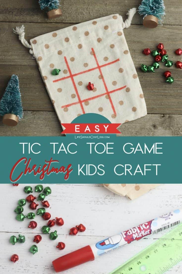 DIY Christmas Gift Tic Tack Toe Game