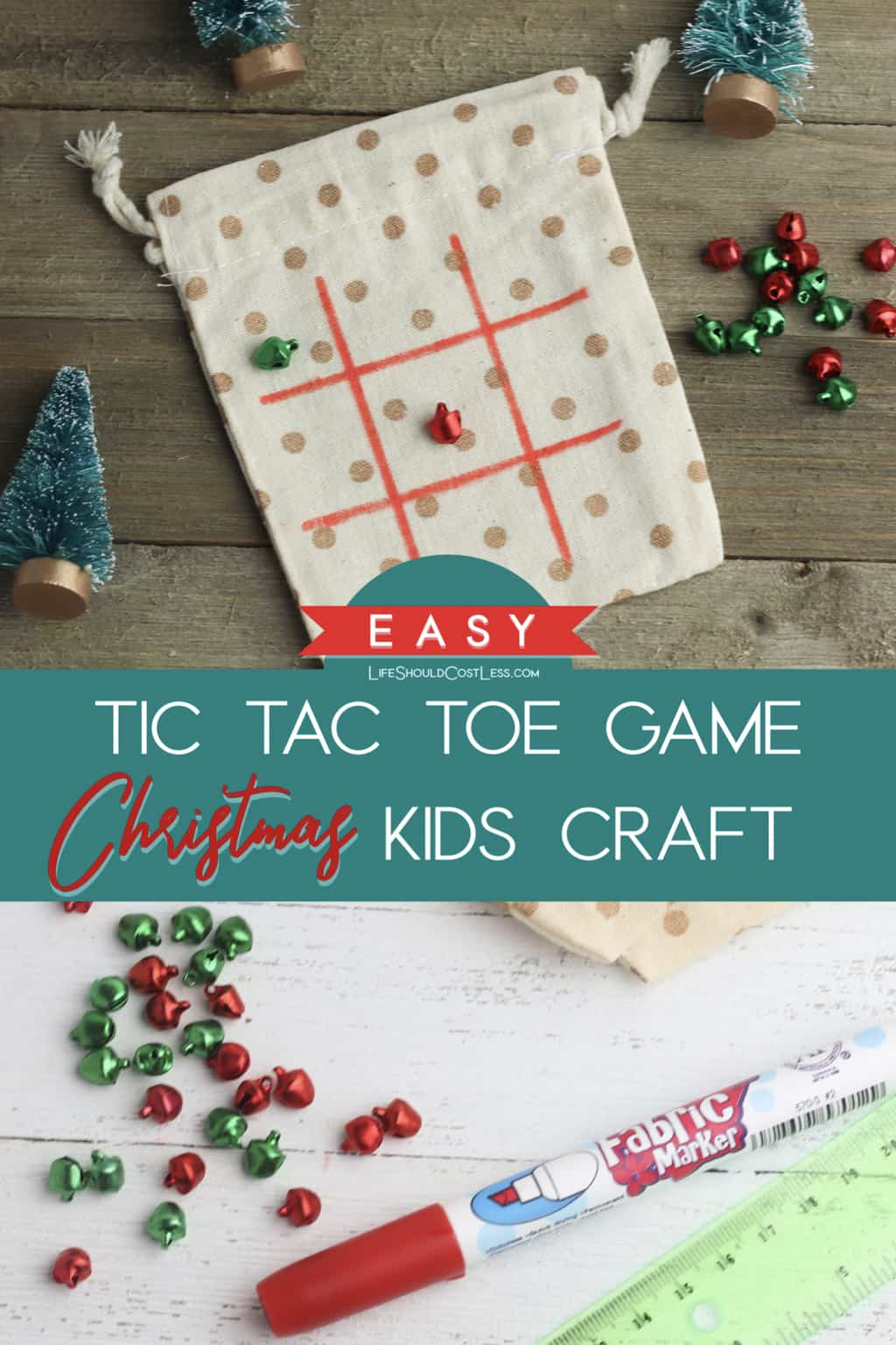 Easy Tic Tac Toe Game Christmas Kids Craft