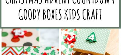 CHRISTMAS ADVENT COUNTDOWN GOODY BOXES KIDS CRAFT