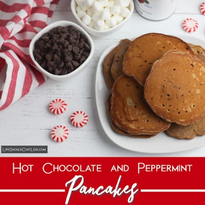 Easy Hot Chocolate And Peppermint Pancakes