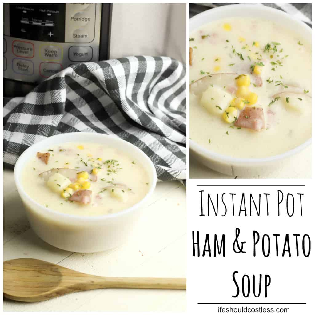 Instant Pot Pressure Cooker Ham and Potato Soup Recipe