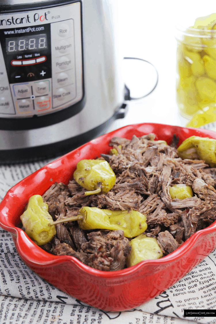 Instant Pressure Cooker Beef Recipes lifeshouldcostless.com