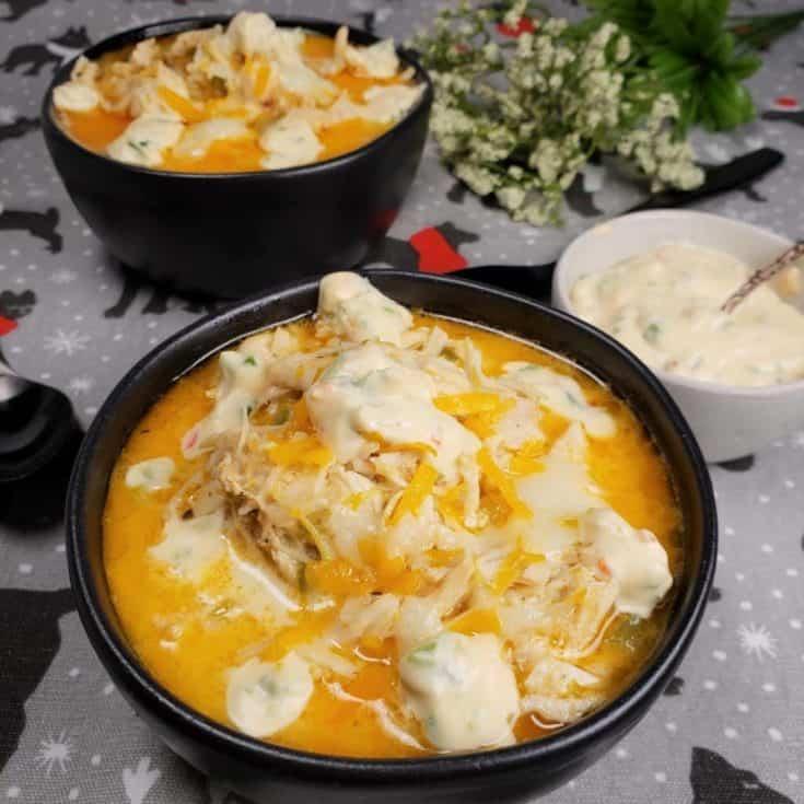 Instant Pot pressure cooker jalapeno popper chicken soup