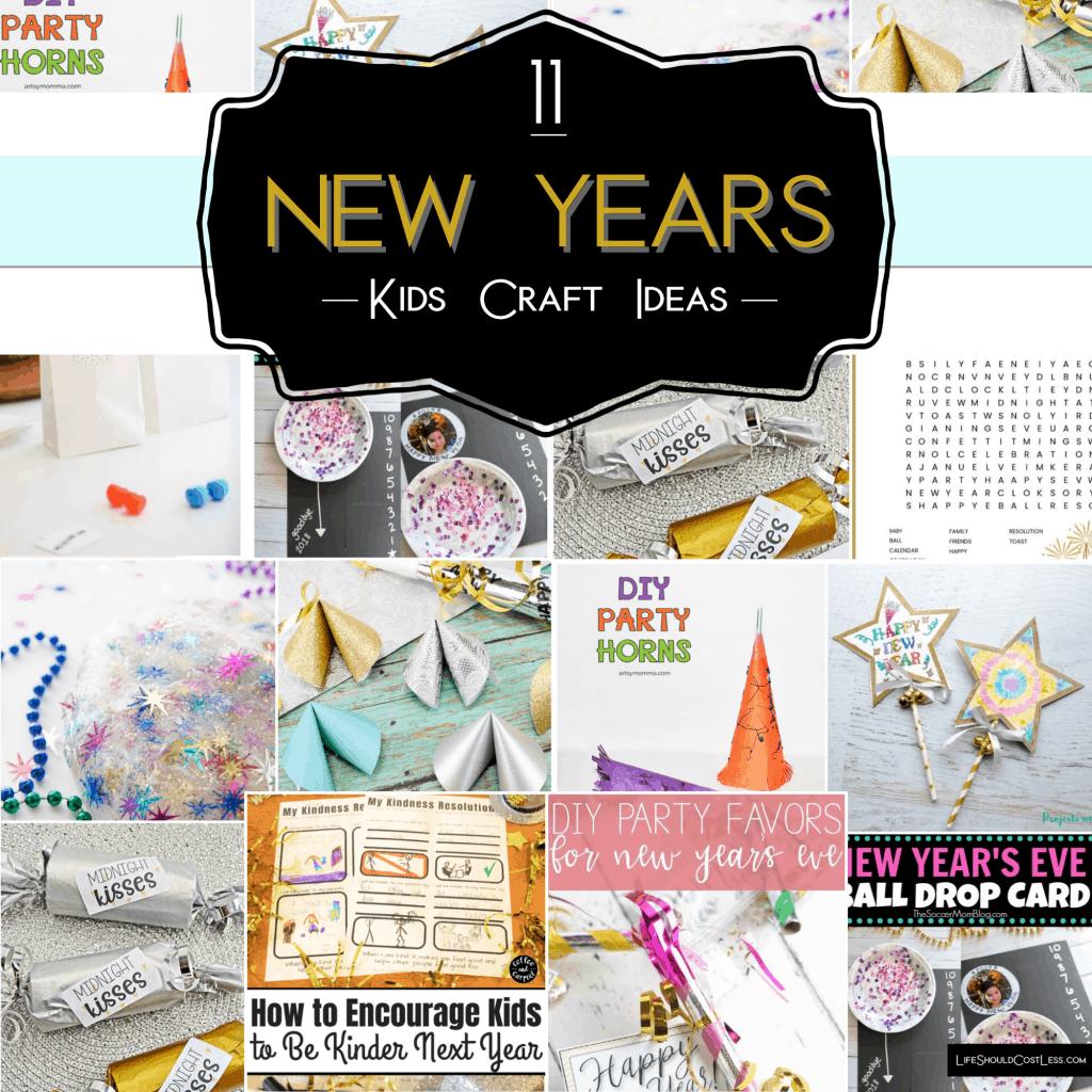 11 New Years Kids Craft Ideas lifeshouldcostless.com
