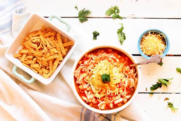 Instant Pot Pressure Cooker Chicken Tortilla Soup Recipe