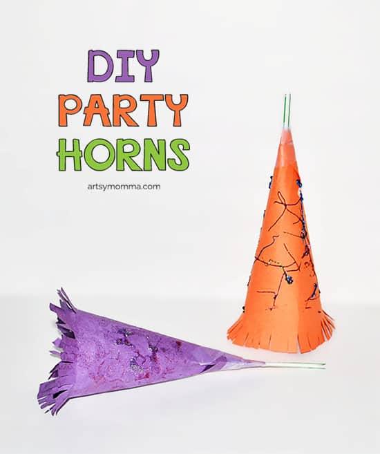 DIY-Party-Horns-Kids-Craft