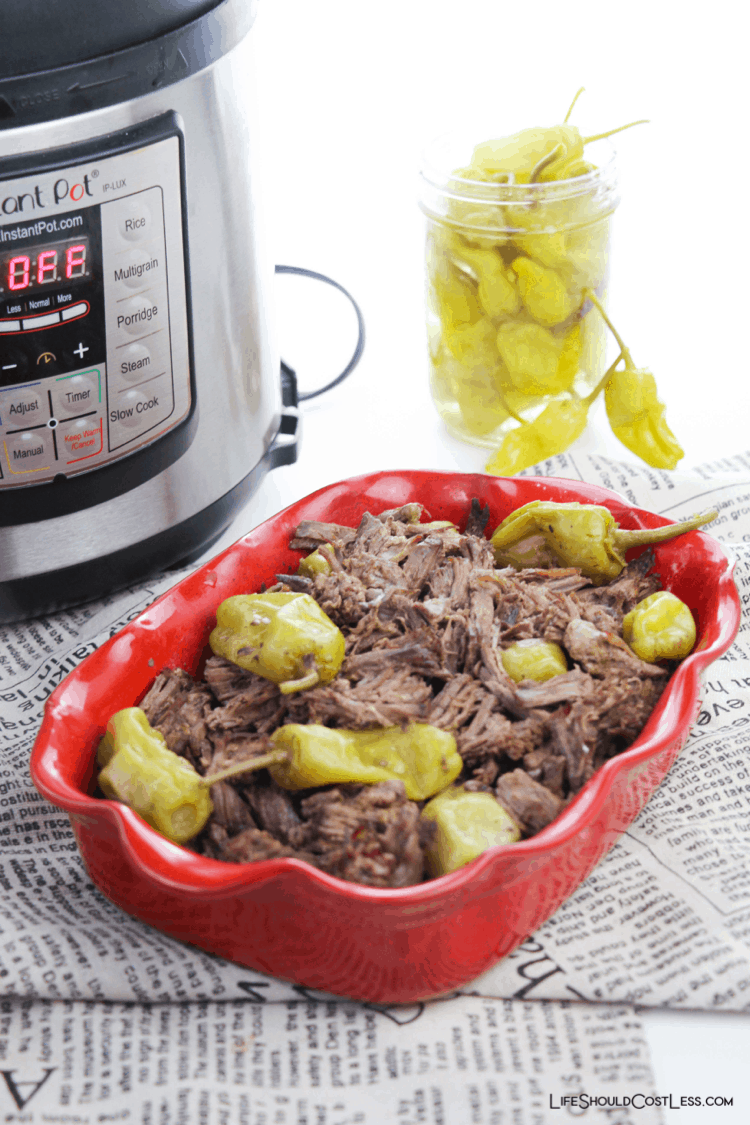 Delicious Italian Beef Made In The Pressure Cooker lifeshouldcostless.com