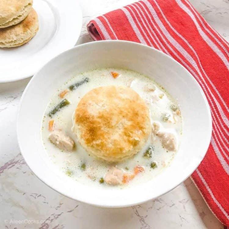 Instant Pot Pressure Cooker Chicken Pot Pie Soup Recipe
