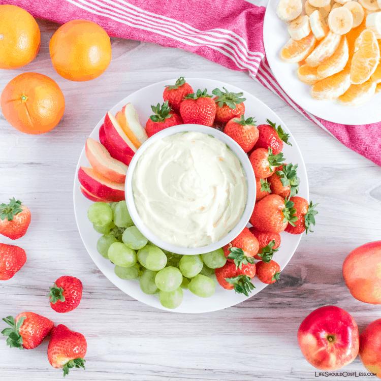 Marshmallow & Cream Cheese Fruit Dip lifeshouldcostless.com