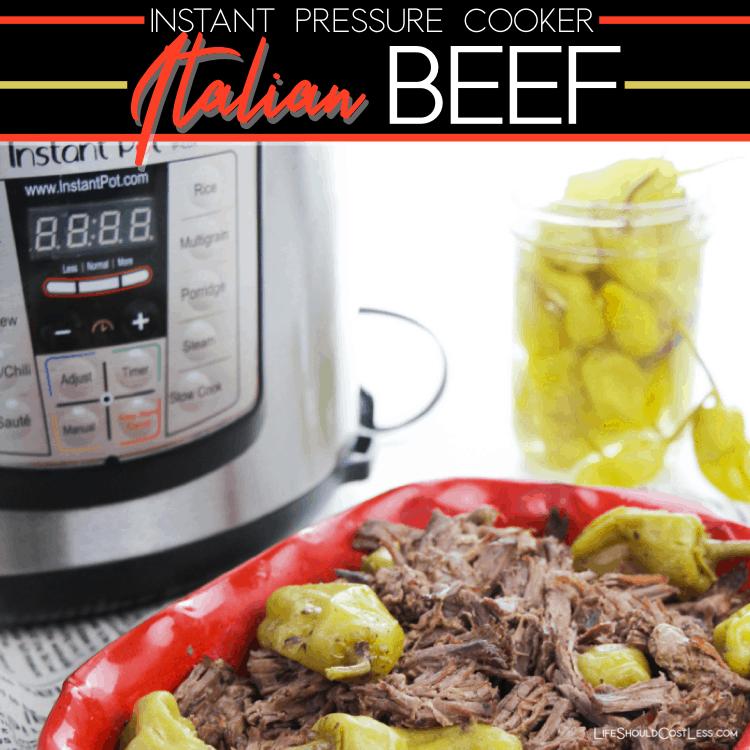 Instant Pressure Cooker Italian Roast Beef Recipe. lifeshouldcostless.com