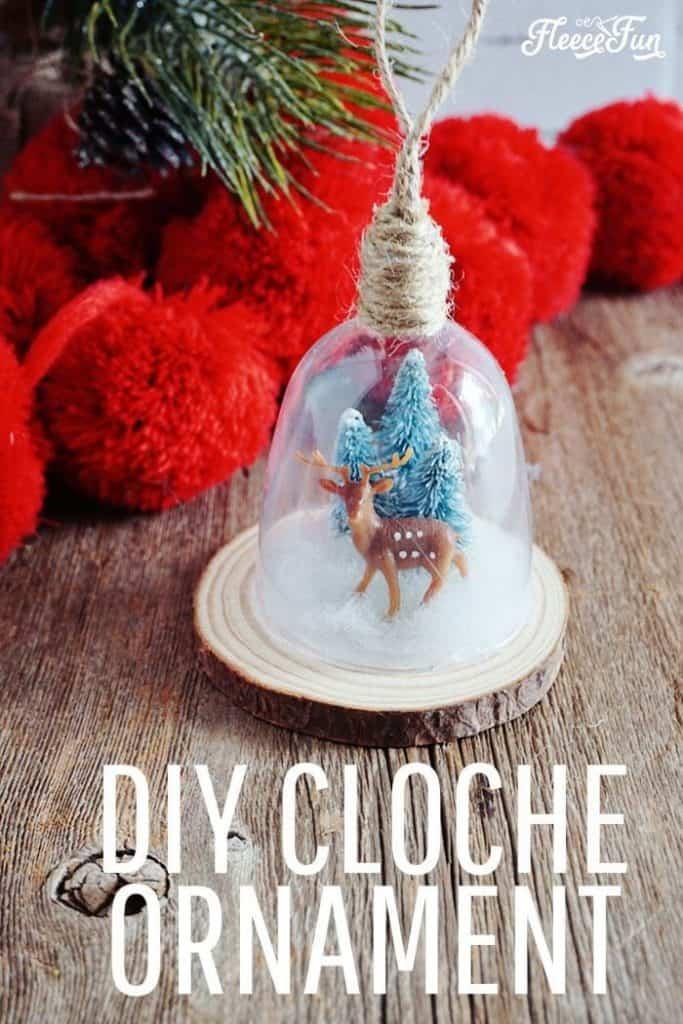 DIY Cloche Ornament Farmhouse Decor
