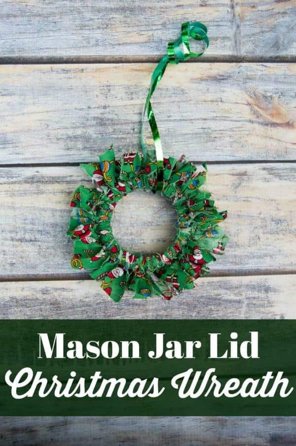Mason Jar Canning Lid Rustic Christmas Wreath Craft