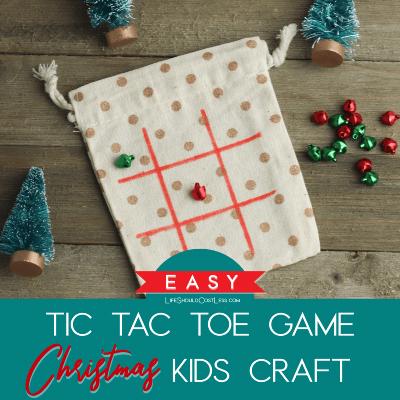 Easy Tic Tac Toe Game Christmas Kids Craft