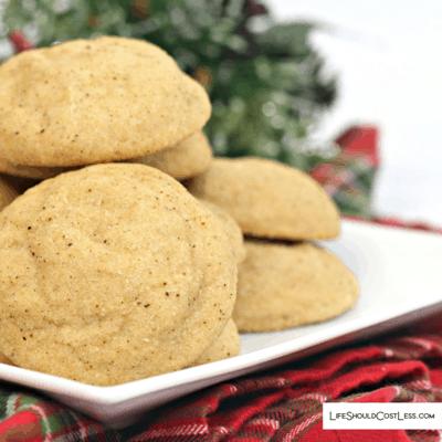 Famous Eggnog Snickerdoodle Cookies Recipe lifeshouldcostless.com