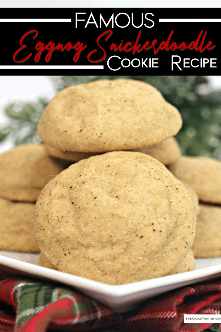 Famous Eggnog Snickerdoodle Cookies Recipe. lifeshouldcostless.com