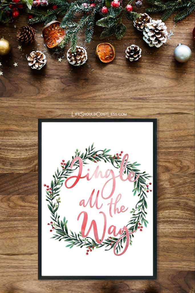 Free farmhouse printable wall art. Follow image to post with unwatermarked photo. lifeshouldcostless.com