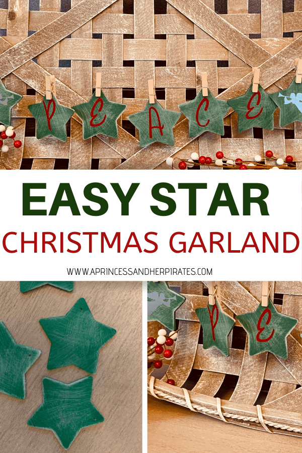 Star Christmas Craft Garland, Rustic