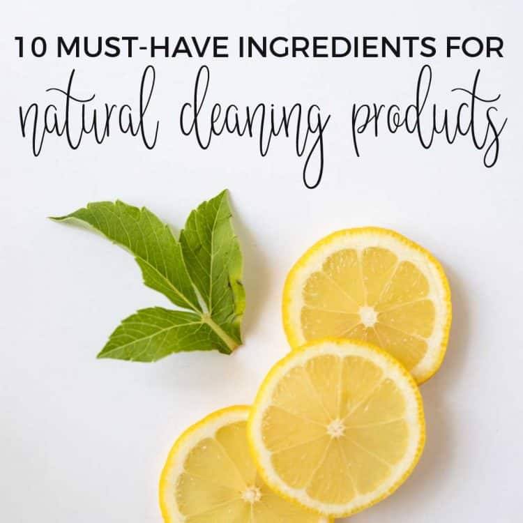 Natural items you need to make home-made non-toxic cleaning products. lifeshouldcostless.com