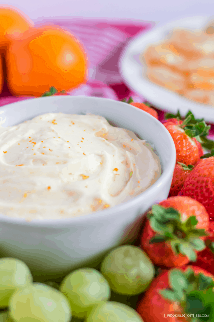 Delicious Marshmallow & Cream Cheese Fruit Dip lifeshouldcostless.com