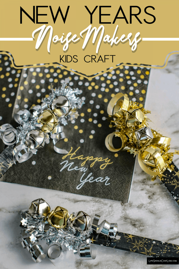 New Years Kids Craft Noise Makers lifeshouldcostless.com