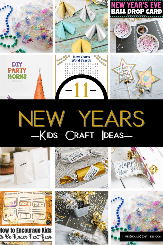 11 New Year's Kids Craft Ideas lifeshouldcostless.com