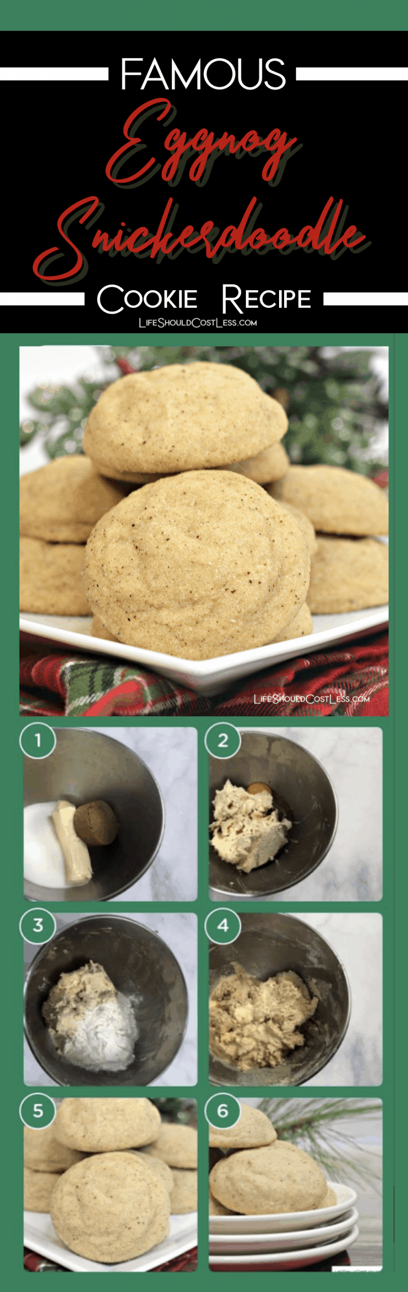 famous eggnog snickerdoodles found on lifeshouldcostless.com