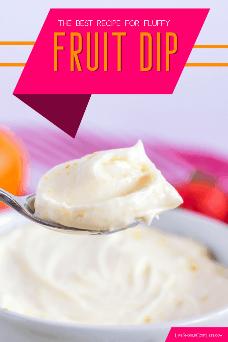 Learn how to make easy fruit dip. Three simple ingredients stand between you & this delicious fruit dip recipe made with cream cheese and marshmallow creme.. lifeshouldcostless.com