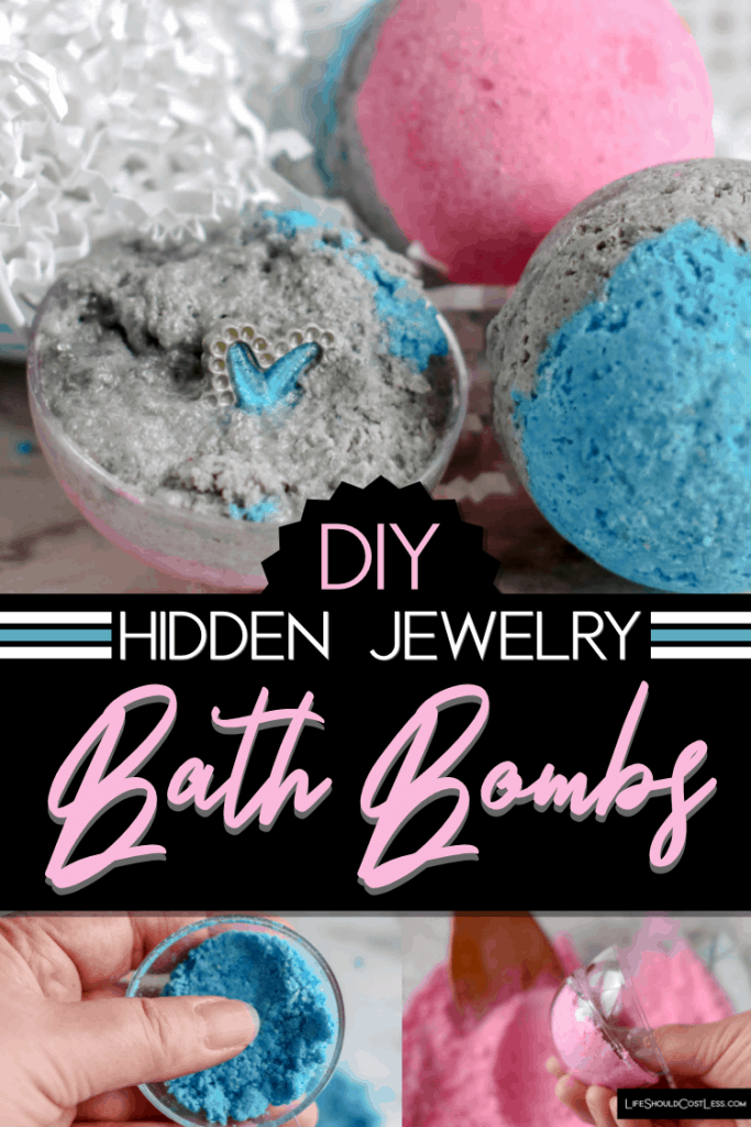 DIY: How To Make Bath Bombs WIth Hidden Jewelry/Gems Inside lifeshouldcostless.com
