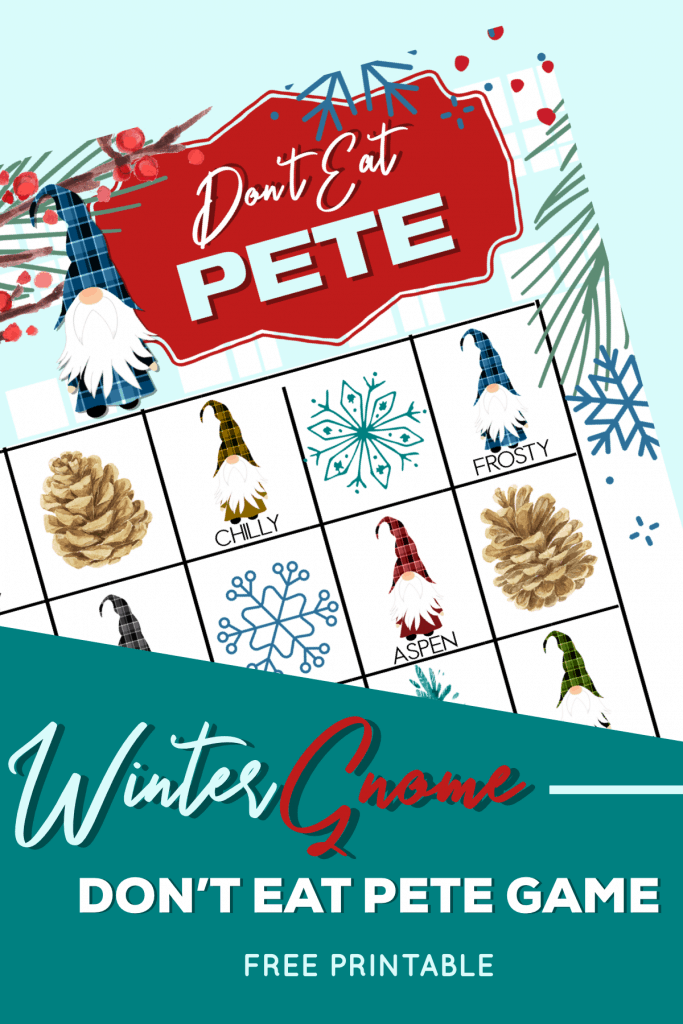 Winter Gnomes Free Printable Kids Game lifeshouldcostless.com