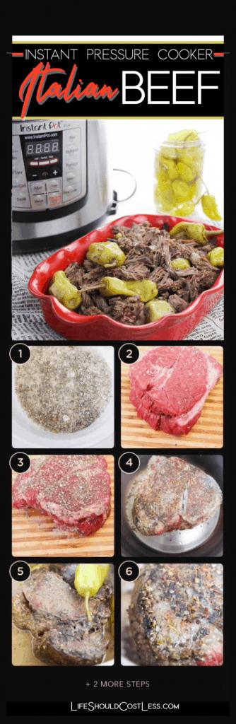 Easy Italian Roast Beef Instant Pot Recipe lifeshouldcostless.com