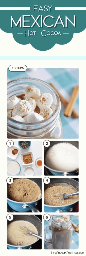 Easy Mexican Hot Cocoa Recipe lifeshouldcostless.com