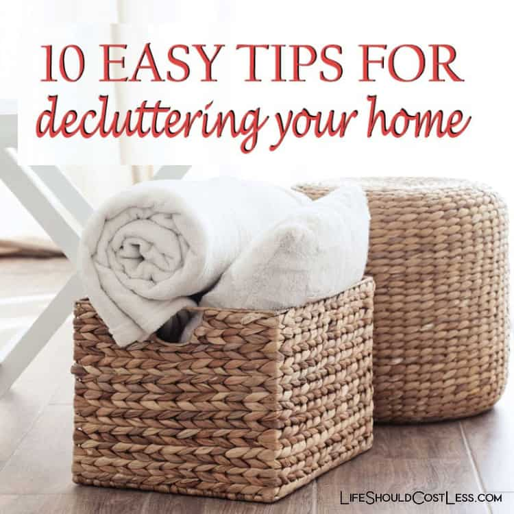 Tips for dejunking and organizing. lifeshouldcostless.com