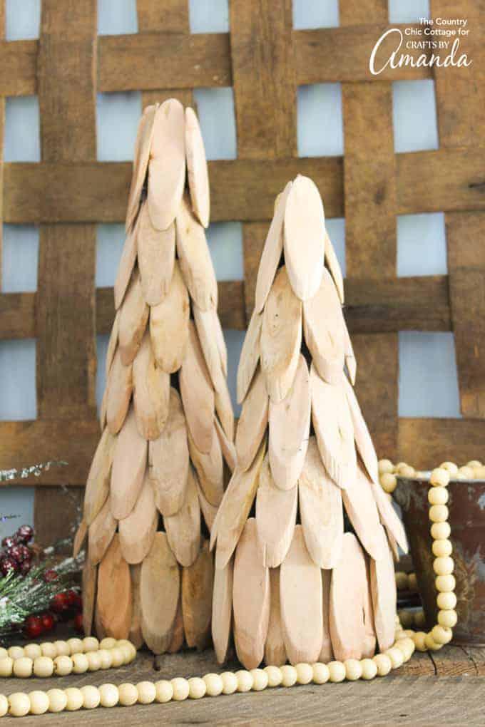Wood slice christmas tree, farmhouse decor diy