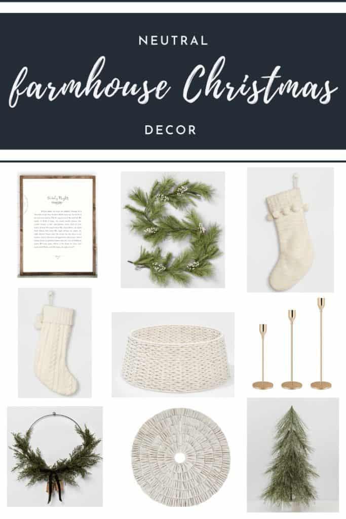 Neutral Farmhouse Christmas Decoration Ideas