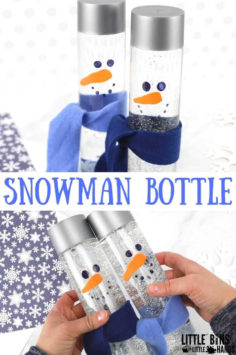 Snowman-Sensory-Bottle-for-Winter-Activities