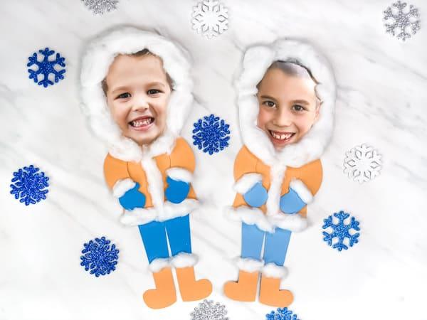 Eskimo winter craft for kids.