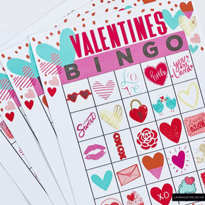 Valentines Bingo Game For Kids lifeshouldcostless.com