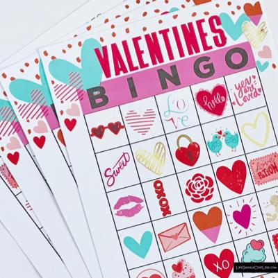 Valentines Bingo Game For Kids lifeshouldcostless.com