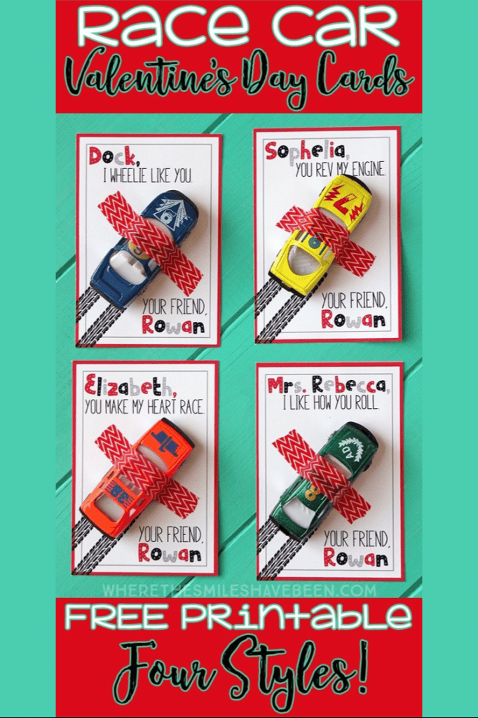 Valentines Race Car Card For Kids Free Printable Valentine For Boys lifeshouldcostless.com