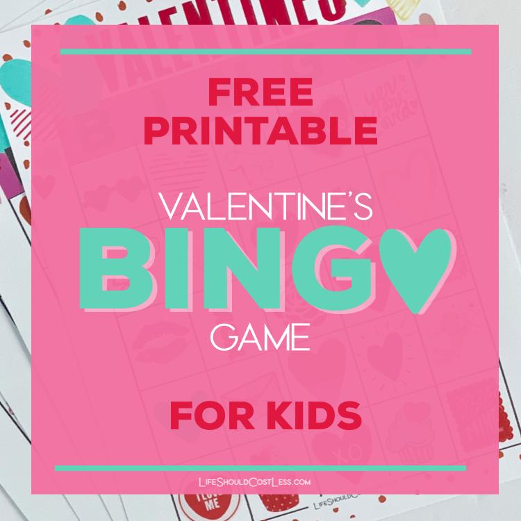 free valentine bingo game cards. lifeshouldcostless.com