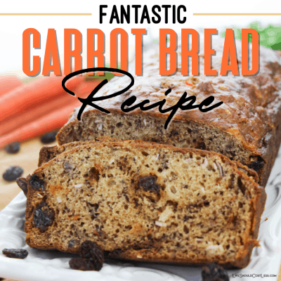 Carrot bread recipe lifeshouldcostless.com