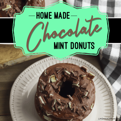How to make donuts from scratch. Chocolate Mint cake donuts recipe. lifeshouldcostless.com