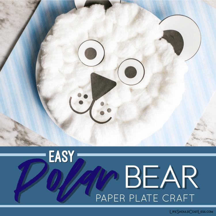 Polar bear preschool craft lifeshouldcostless.com