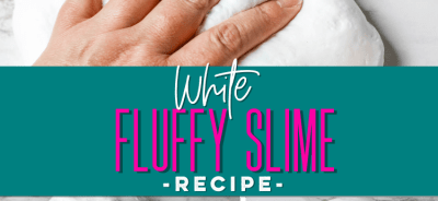 White Fluffy Slime Recipe. lifeshouldcostless.com