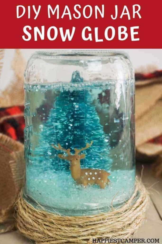 How to make a snow globe with a mason jar winter kids craft.