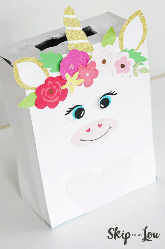 Kids Unicorn Valentines Box Free Printable Classroom Activity lifeshouldcostless.com